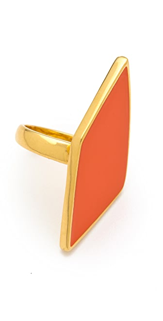 Belle Noel Asymmetrical Enameled Ring
