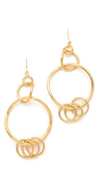 Belle Noel Chandelier Hoop Earrings