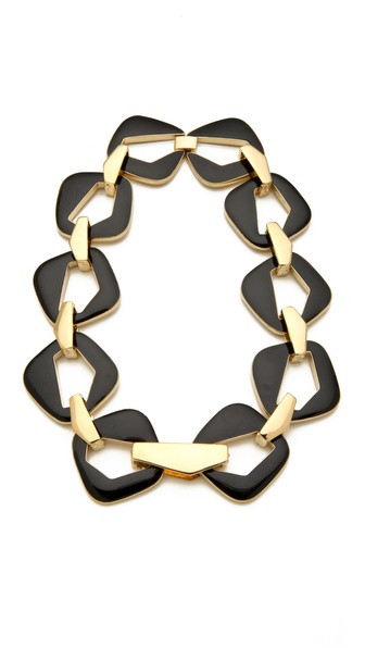 Belle Noel Enameled Modernista Necklace