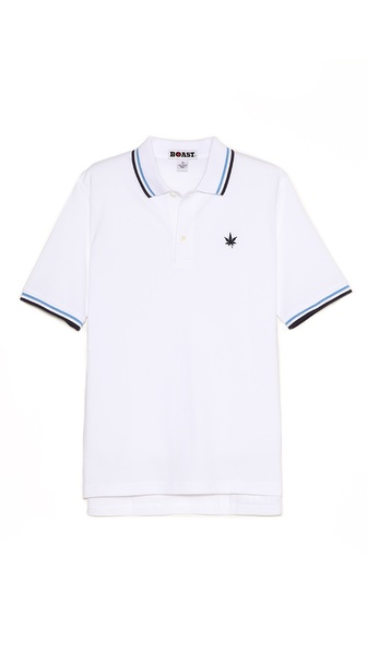 Boast Striped Collar Polo Shirt