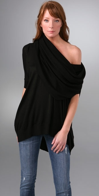 Bop Basics Cashmere Sweater with Oversized Cowl Neck