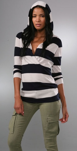 Bop Basics Cashmere Bold Stripe Hoodie