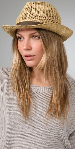 Bop Basics Open Weave Fedora with Canvas Trim