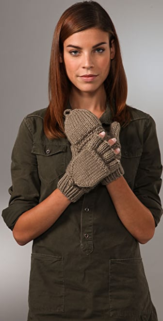Bop Basics Thick Knit Flip Top Mittens