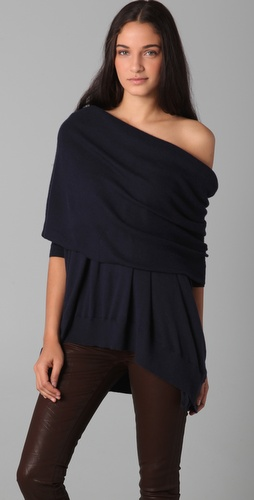 Bop Basics Oversized Cashmere Cowl Neck Sweater