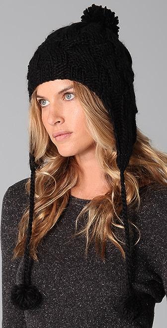 Bop Basics Earflap Hat with Pom Pom