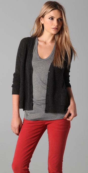 Bop Basics Cashmere Pocket Cardigan