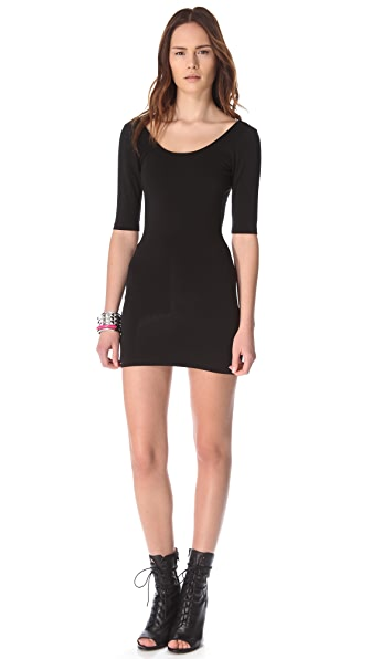 Bop Basics Tracy Open Back Mini Dress