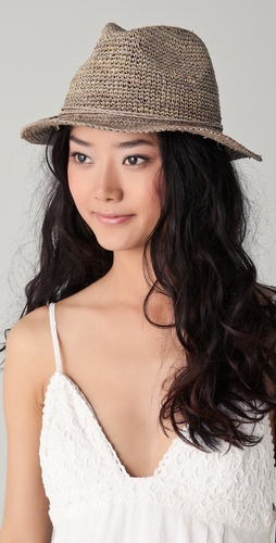 Bop Basics Raffia Crochet Floppy Fedora