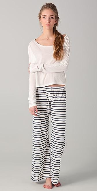 Bop Basics Long Sleeve Crop Top Sleep Set