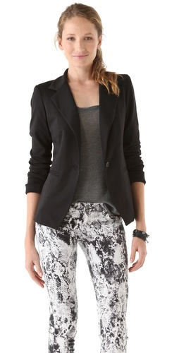 Bop Basics Ponte Jacket with Solid Lining