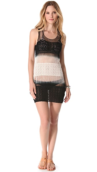 Bop Basics Sunset Crocheted Cover Up Dress