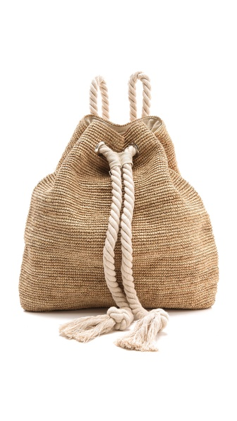 Bop Basics Raffia Crochet Backpack