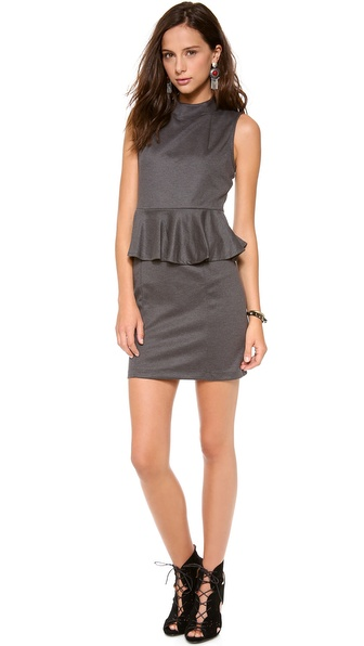 Bop Basics Sleeveless Peplum Dress