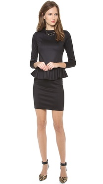 Bop Basics Long Sleeve Peplum Dress