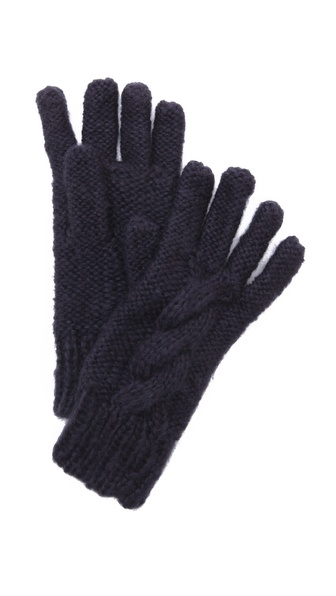 Bop Basics Thick Knit Gloves - Navy at Shopbop