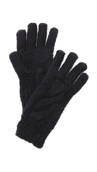 Bop Basics Thick Knit Gloves - Black at Shopbop