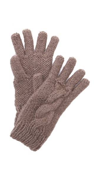 Bop Basics Thick Knit Gloves - Taupe at Shopbop
