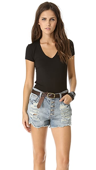 Bop Basics Short Sleeve V Neck Tee