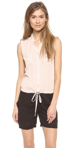 Bop Basics Sleeveless Romper at Shopbop / East Dane