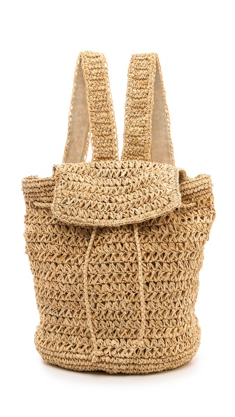 Bop Basics Raffia Backpack - Natural at Shopbop / East Dane