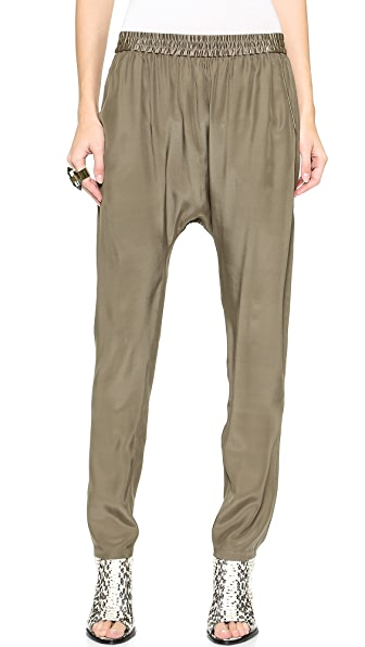 Bop Basics Silk Charmeuse Harem Pants