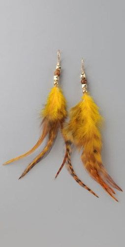 Bop Bijoux City Feather Earrings