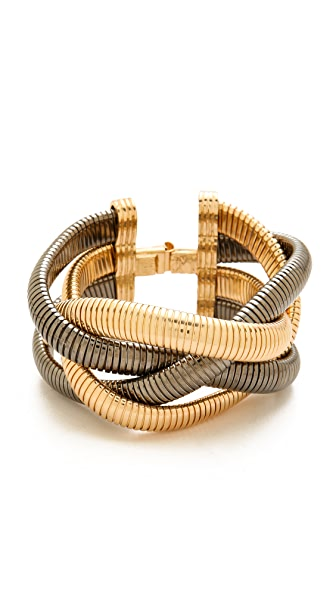 Bop Bijoux Metallic Braid Bracelet