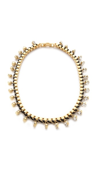 Bop Bijoux Leather Rock Box Chain Necklace
