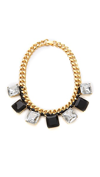 Bop Bijoux Oversized Leather Rock Necklace