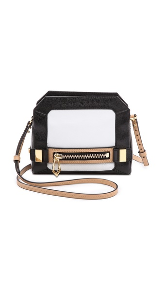 Botkier Honore Cross Body Bag - Black/White