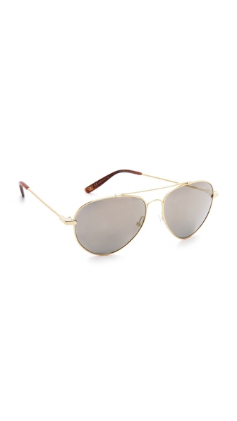 Bottega Veneta Mirrored Aviator Sunglasses