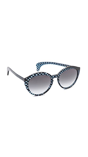 Bottega Veneta Bottega Veneta Cross Sunglasses (Silver)