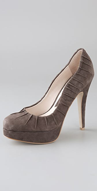 Boutique 9 Dolled Suede Platform Pumps