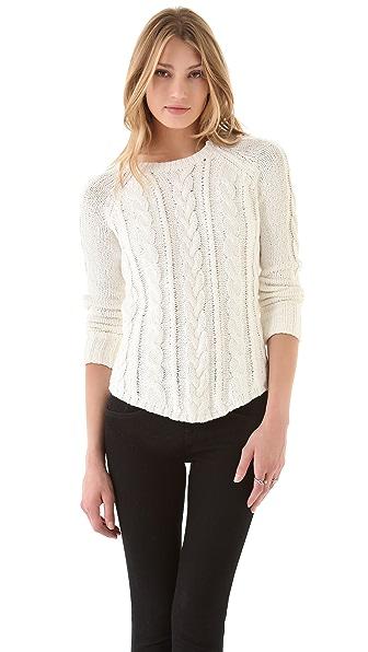 Brochu Walker Textured Shirttail Raglan Sweater