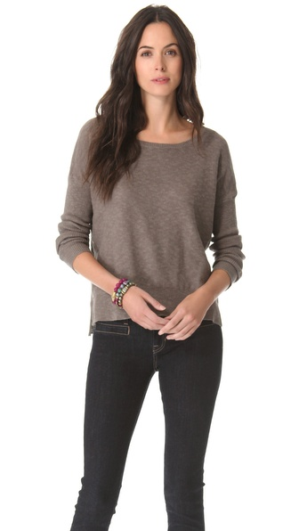 Brochu Walker Ribbed Sleeve Sweater