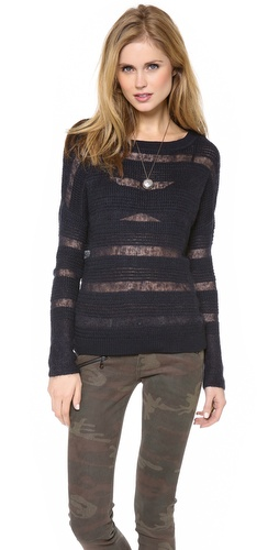Brochu Walker Textured Boat Neck Sweater