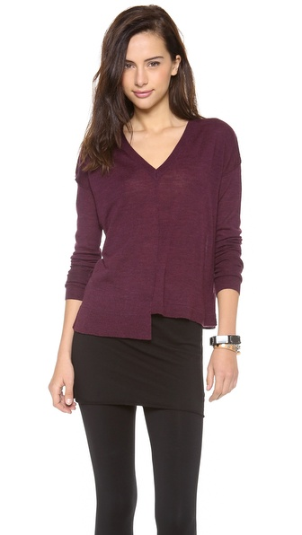 Brochu Walker Ribbon Vee Sweater