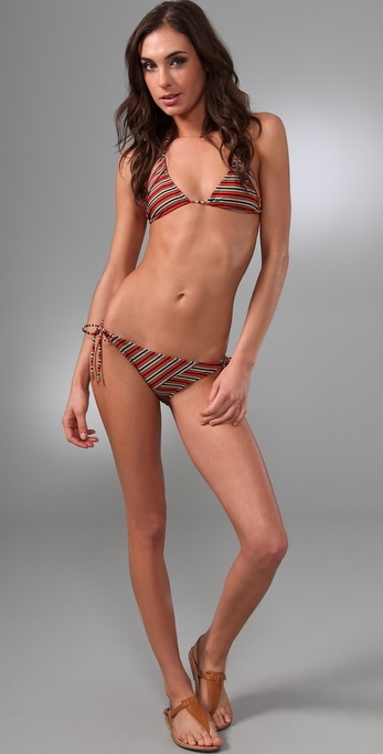 Brette Sandler Swimwear Gina Striped Triangle Bikini