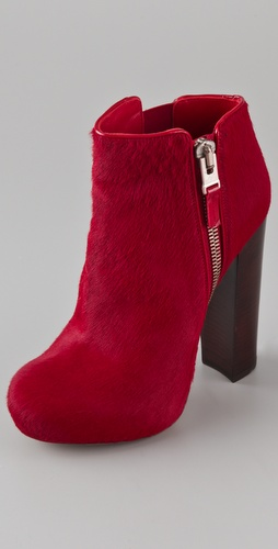 B Brian Atwood Paramour Haircalf High Heel Booties