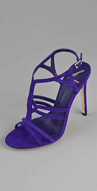 B Brian Atwood Lorrina Suede High Heel Sandals