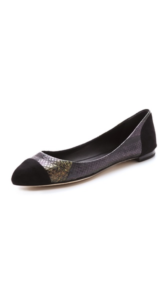 B Brian Atwood Avignon Cap Toe Flats