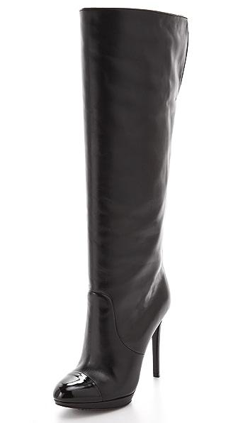 B Brian Atwood Fanfan Cap Toe Boots