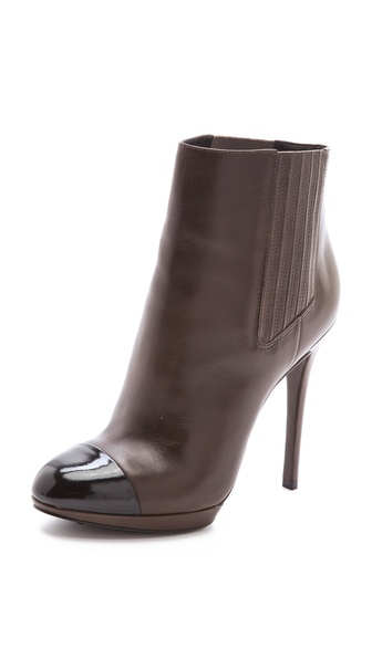 B Brian Atwood Fragola Cap Toe Booties