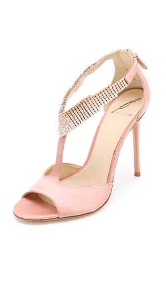 B Brian Atwood Loreto Crystal Sandals