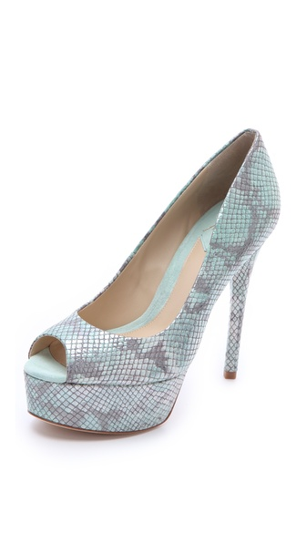 B Brian Atwood Bambola Peep Toe Pumps