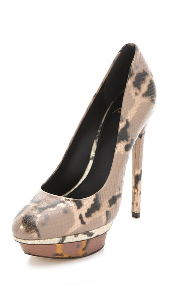B Brian Atwood Fontanne Metallic Pumps