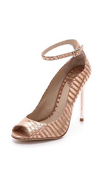 B Brian Atwood Leida Metallic Pumps