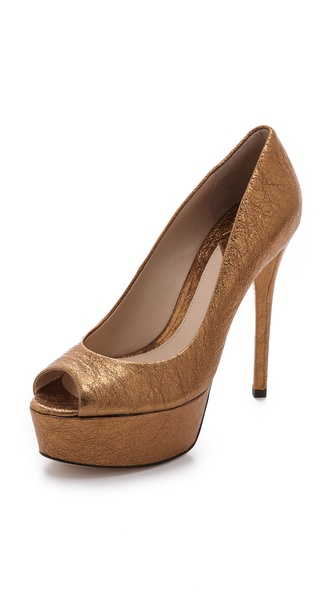 B Brian Atwood Bambola Open Toe Pumps