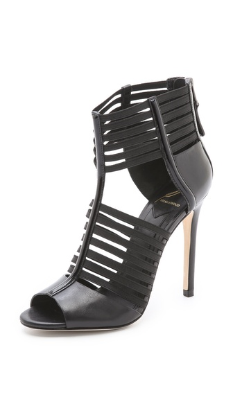 B Brian Atwood Langden Elastic Sandals :  pumps black leather style